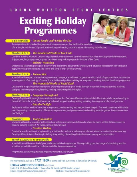 Lorna Whiston Holiday Programmes