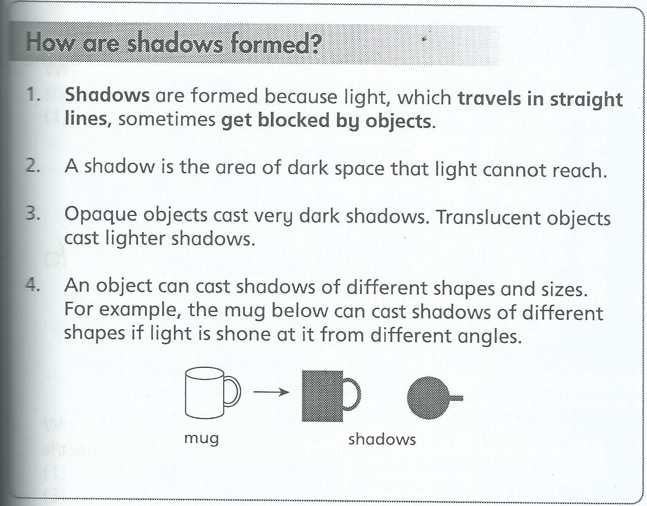 Workbooks worksheets on light and shadows : Std 2 Science – Light | Life long sharing . . .