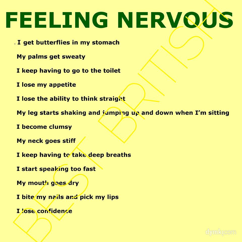 English is Fun – Feeling nervous | Life long sharing . . .