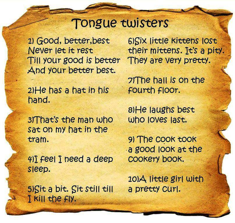 English is Fun – Tongue Twister | Life long sharing