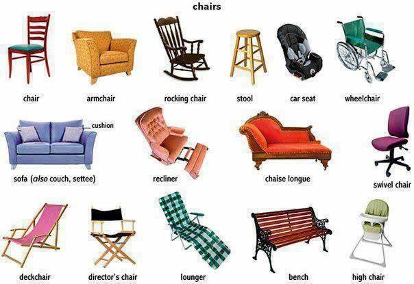 English is fun chairs life long sharing for Different styles of chairs