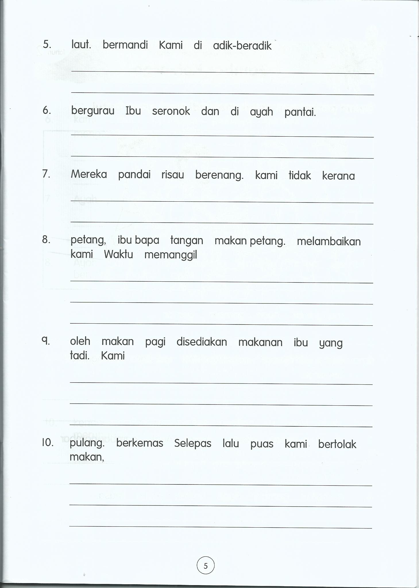 Worksheets Enopi Worksheets bm primary 2 life long sharing page susunayat0004 susunayat0005