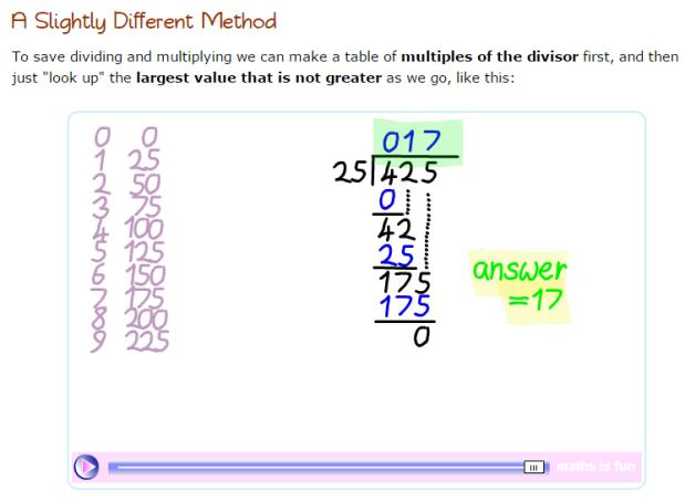 Math Primary 3 – Long Division | Life long sharing . . .