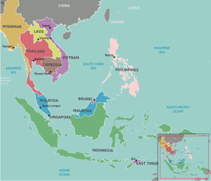 Geographical Map Of Southeast Asia.Geography Southeast Asia Life Long Sharing